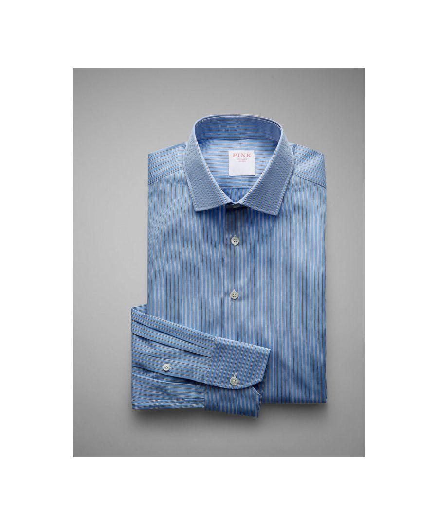 Image for Classic Fit City Stripe Poplin Button Cuff Shirt