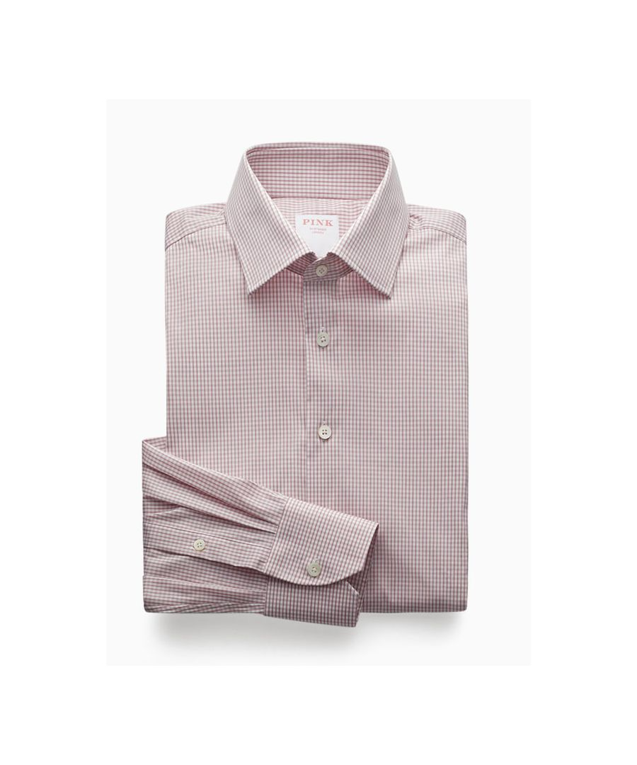 Image for Athletic Fit Stretch Grid Check Poplin Button Cuff Shirt