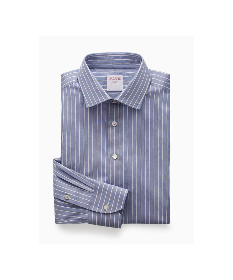 Image for Butcher Stripe Twill Button Cuff
