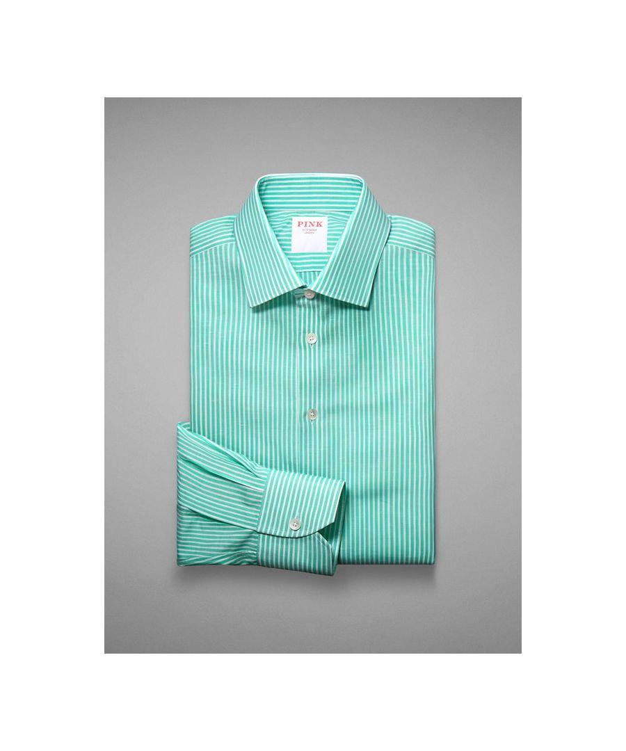 Image for Bengal Stripe Cotton Linen Button Cuff