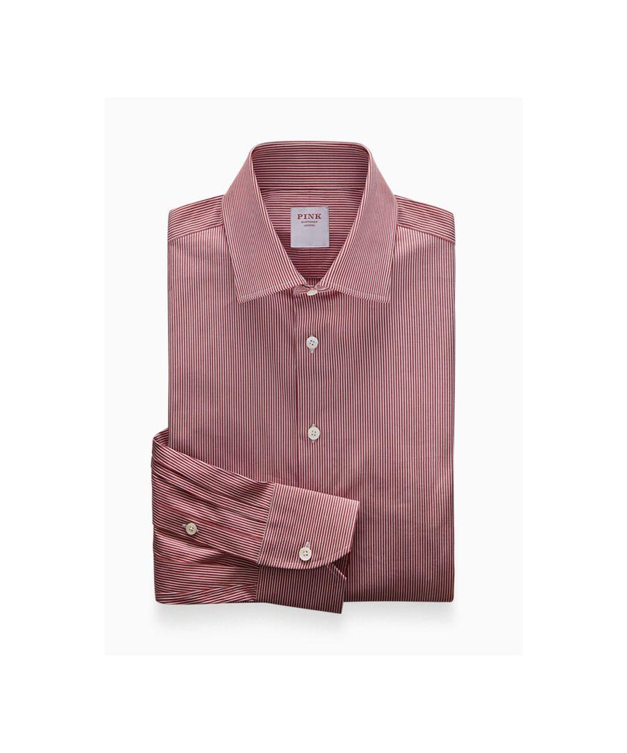 Image for Athletic Fit Stretch Fine Stripe Poplin Button Cuff Shirt