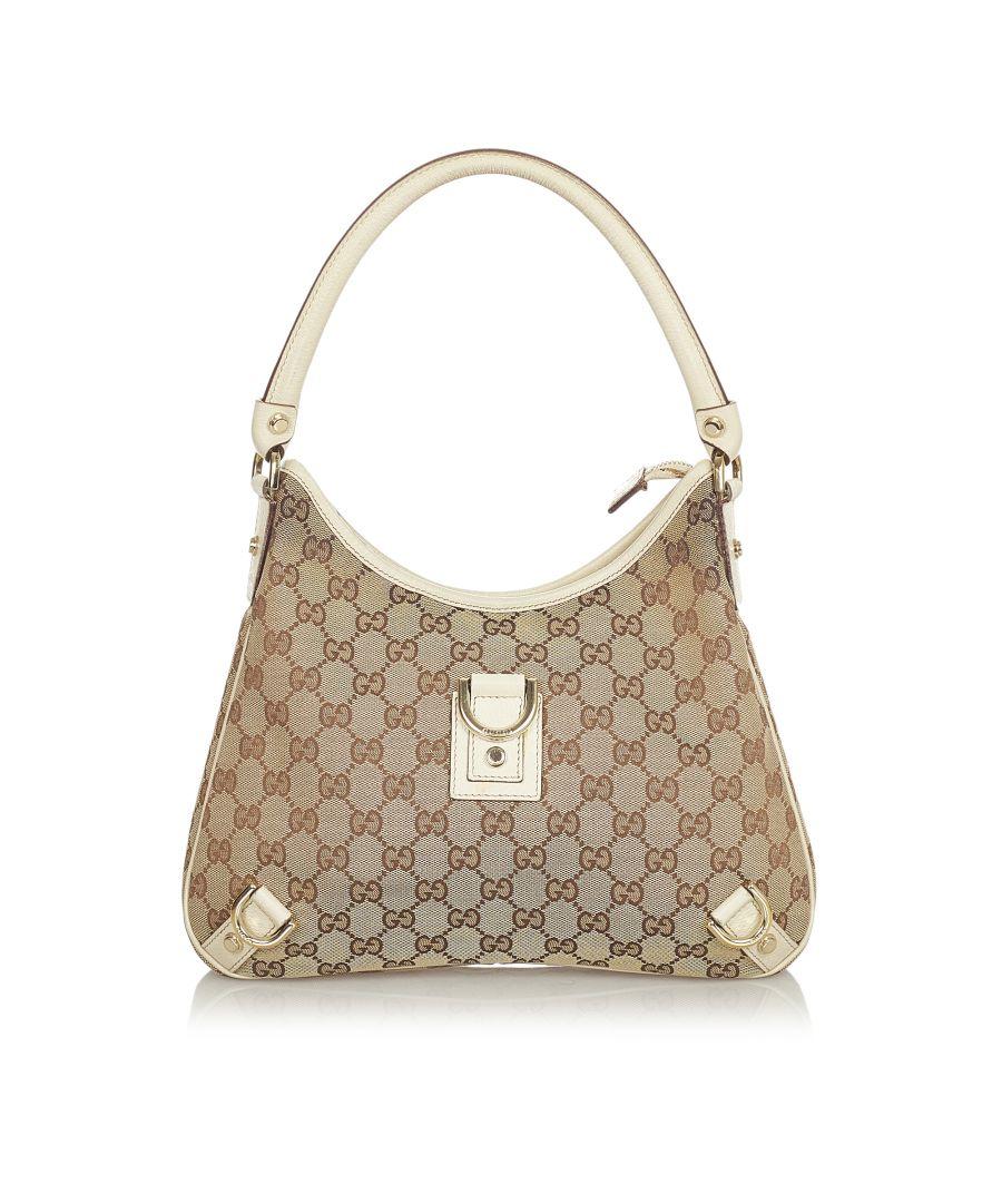 Image for Vintage Gucci GG Canvas Abbey D-Ring Shoulder Bag Brown