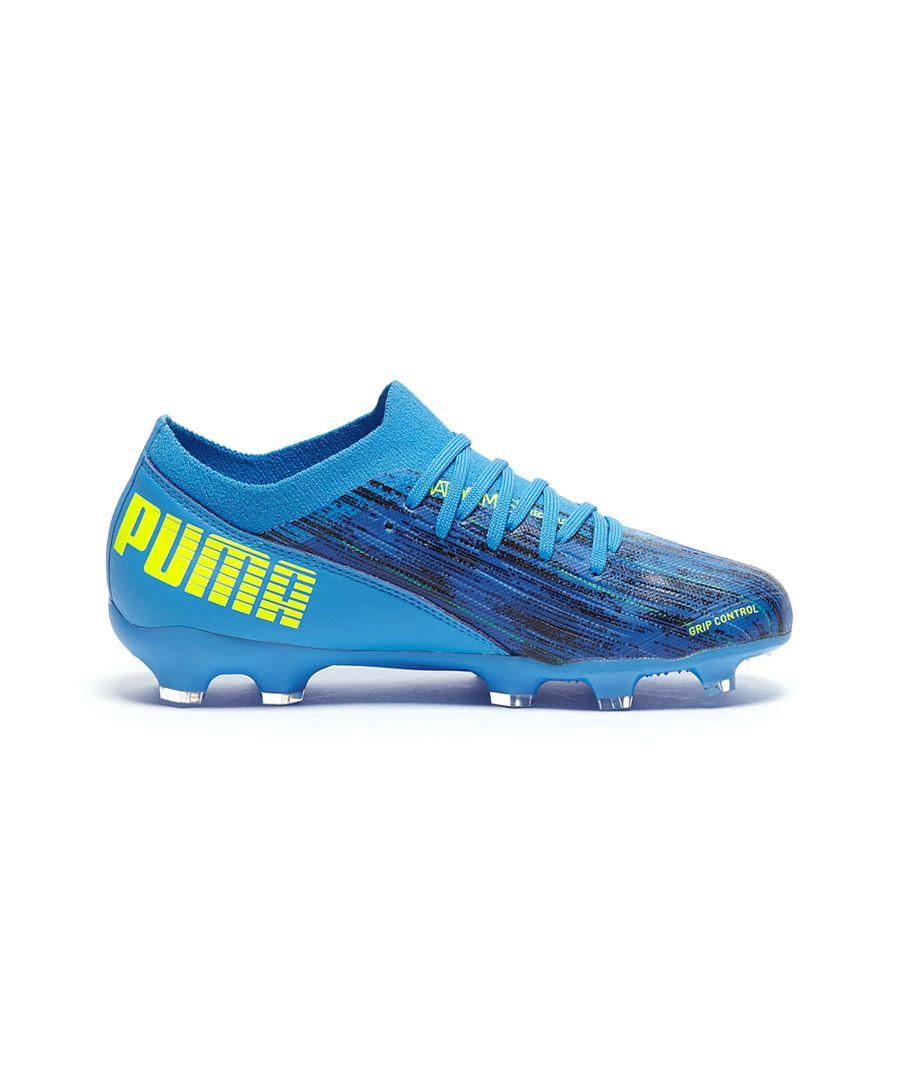 Image for Puma Ultra 3.2 FG/AG Kids Football Boot Blue - UK 12