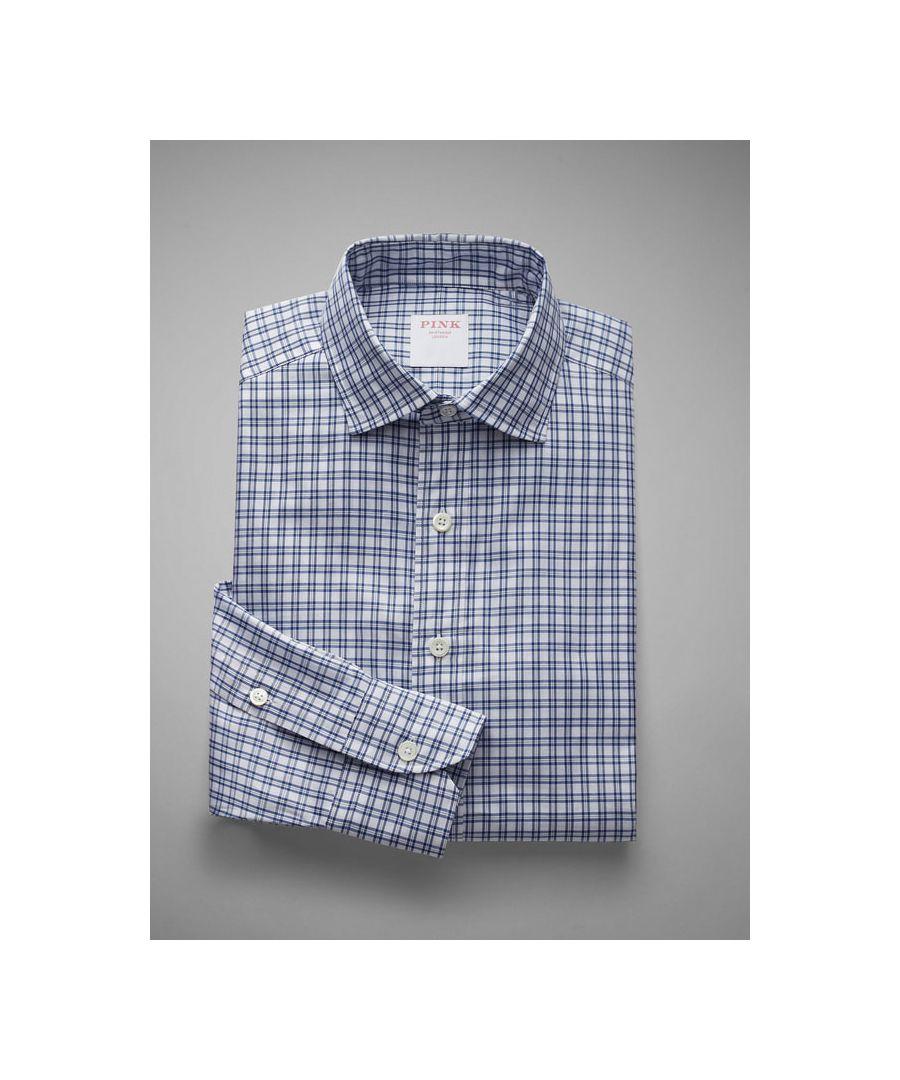 Image for Loose Silhouette  Windowpane Check Twill Button Cuff Shirt