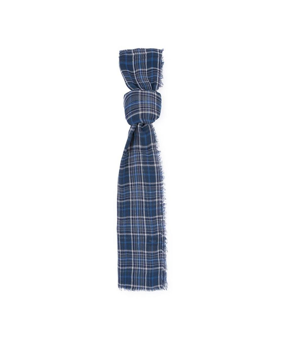 Image for Men's Hackett, Picnic Plaid Scarf in Navy & Blue