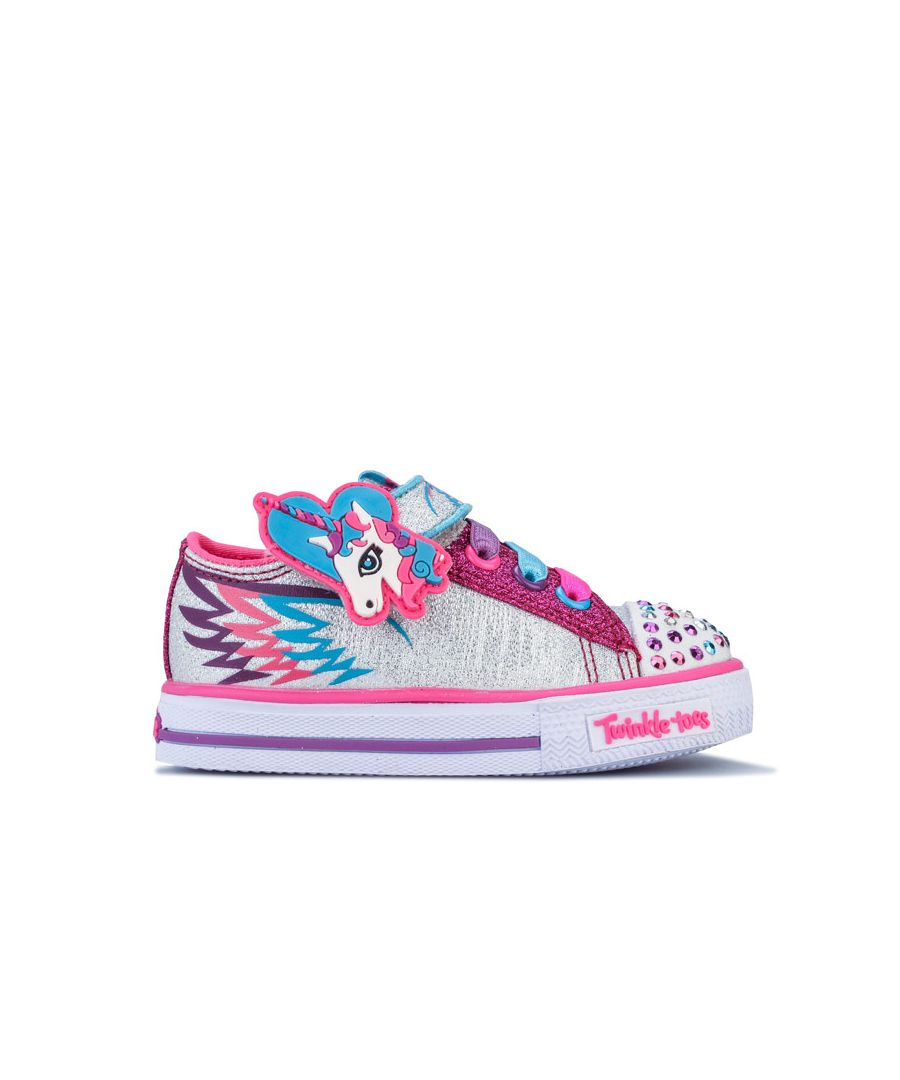 Image for Girl's Skechers Infant Party Pets Trainers in Pink