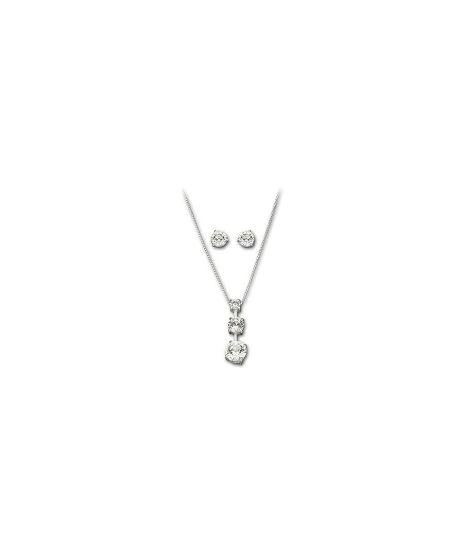 Image for Swarovski Trio Crystal Necklace and Earrings Set