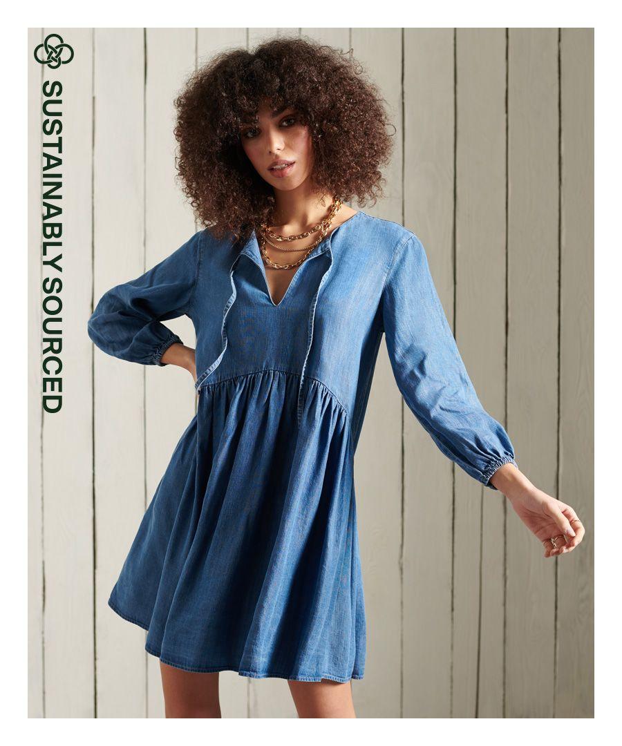 Image for Superdry Long Sleeved Tencel Dress