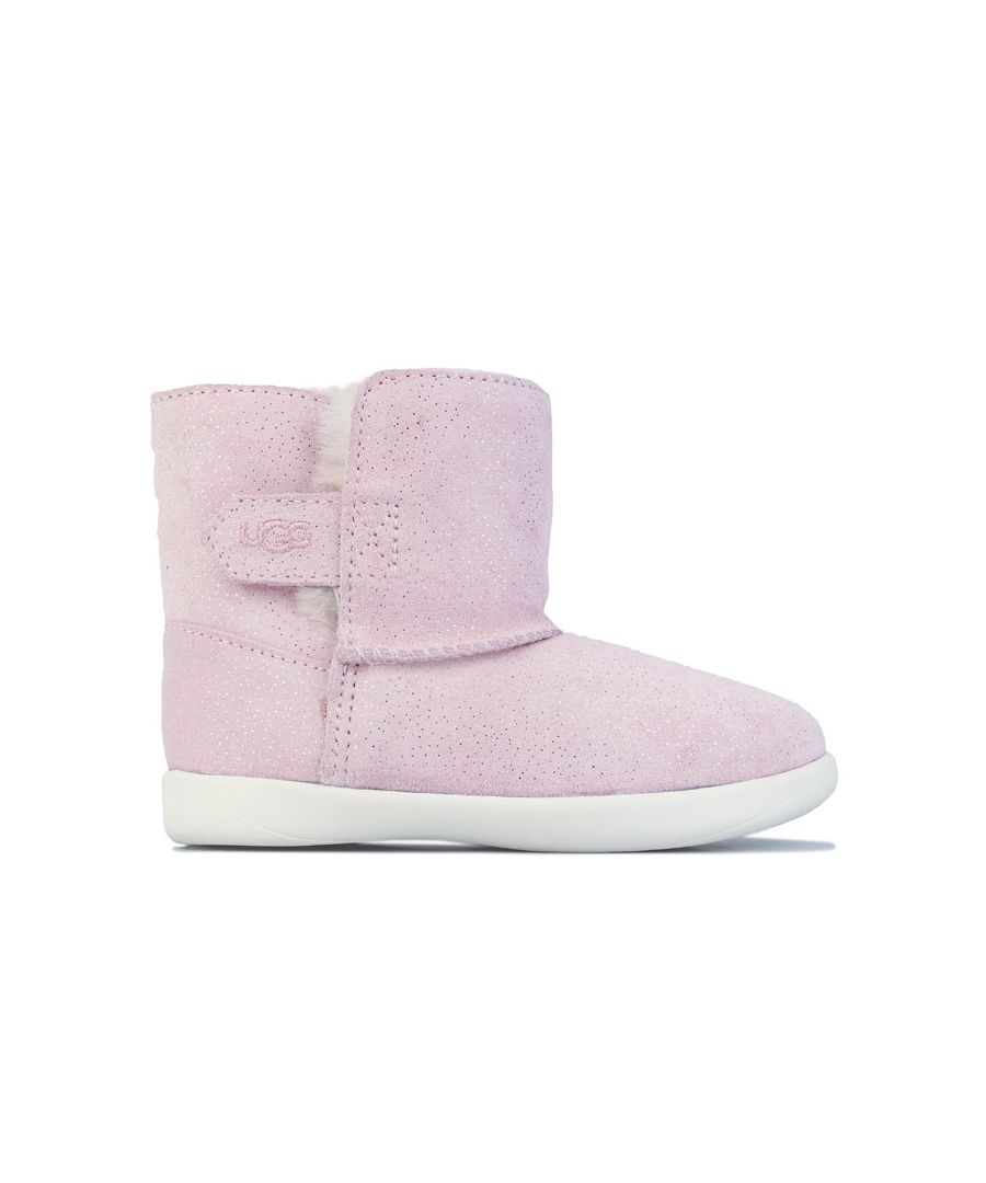 Image for Girl's Ugg Australia Baby Keelan Sparkle Boots in black pink