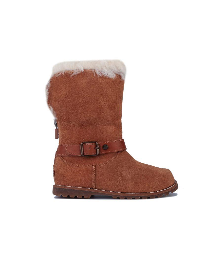 Image for Girl's Ugg Australia Children Nessa Boots in Chestnut
