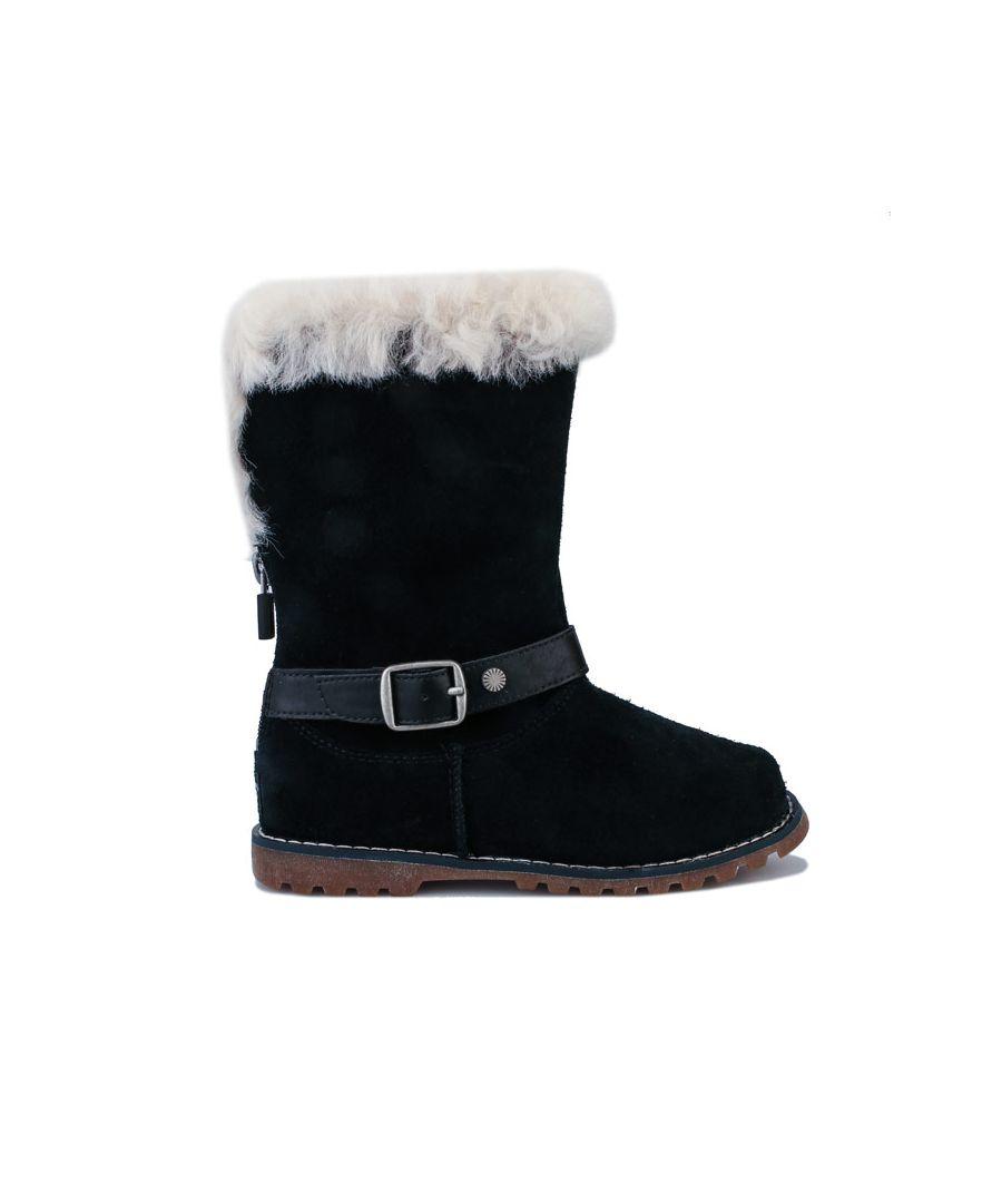 Image for Girl's Ugg Australia Children Nessa Boots in Black