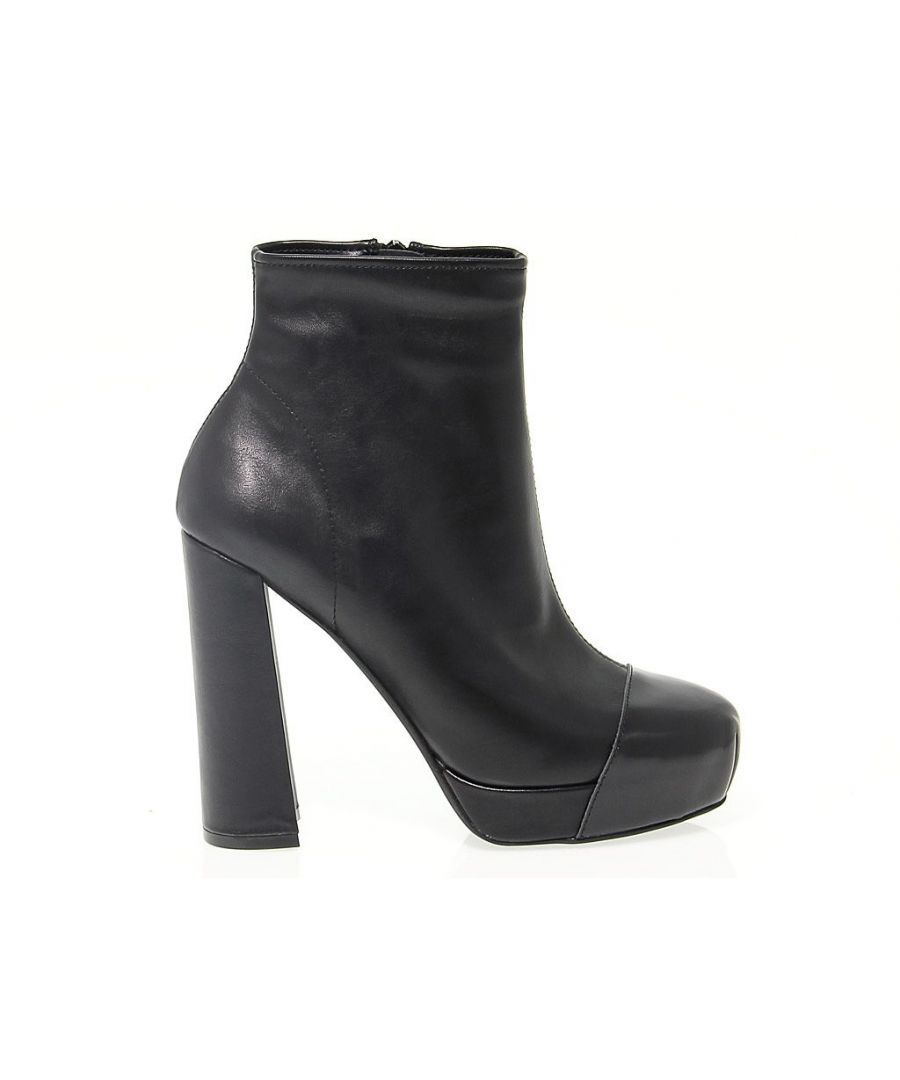 Image for JEFFREY CAMPBELL WOMEN'S JEFFRJC3441 BLACK LEATHER ANKLE BOOTS