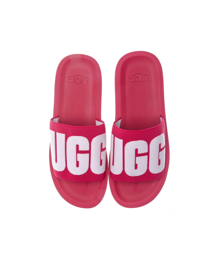 Image for Women's Ugg Australia Zuma Graphic Slide Sandals in Cerise