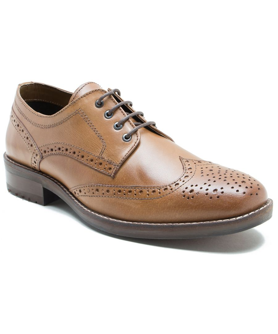 Image for Red Tape Swinley Mens Leather Formal Shoes Tan