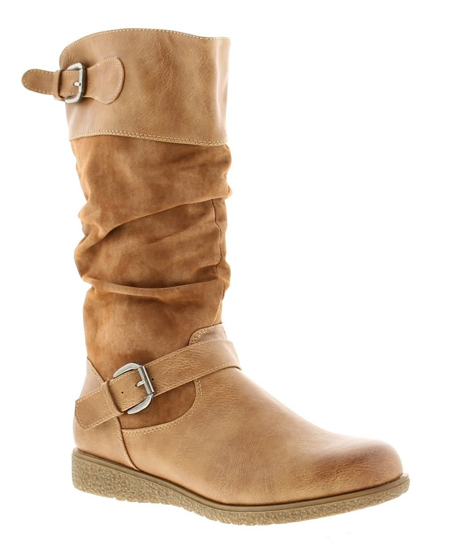 Image for Gluv monica womens ladies boots tan