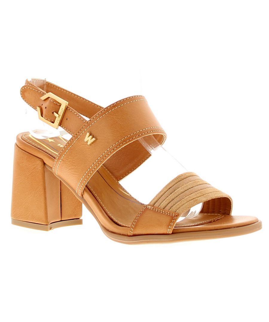 Image for Wrangler Thalia Holly Womens Ladies Heeled Sandals Sand