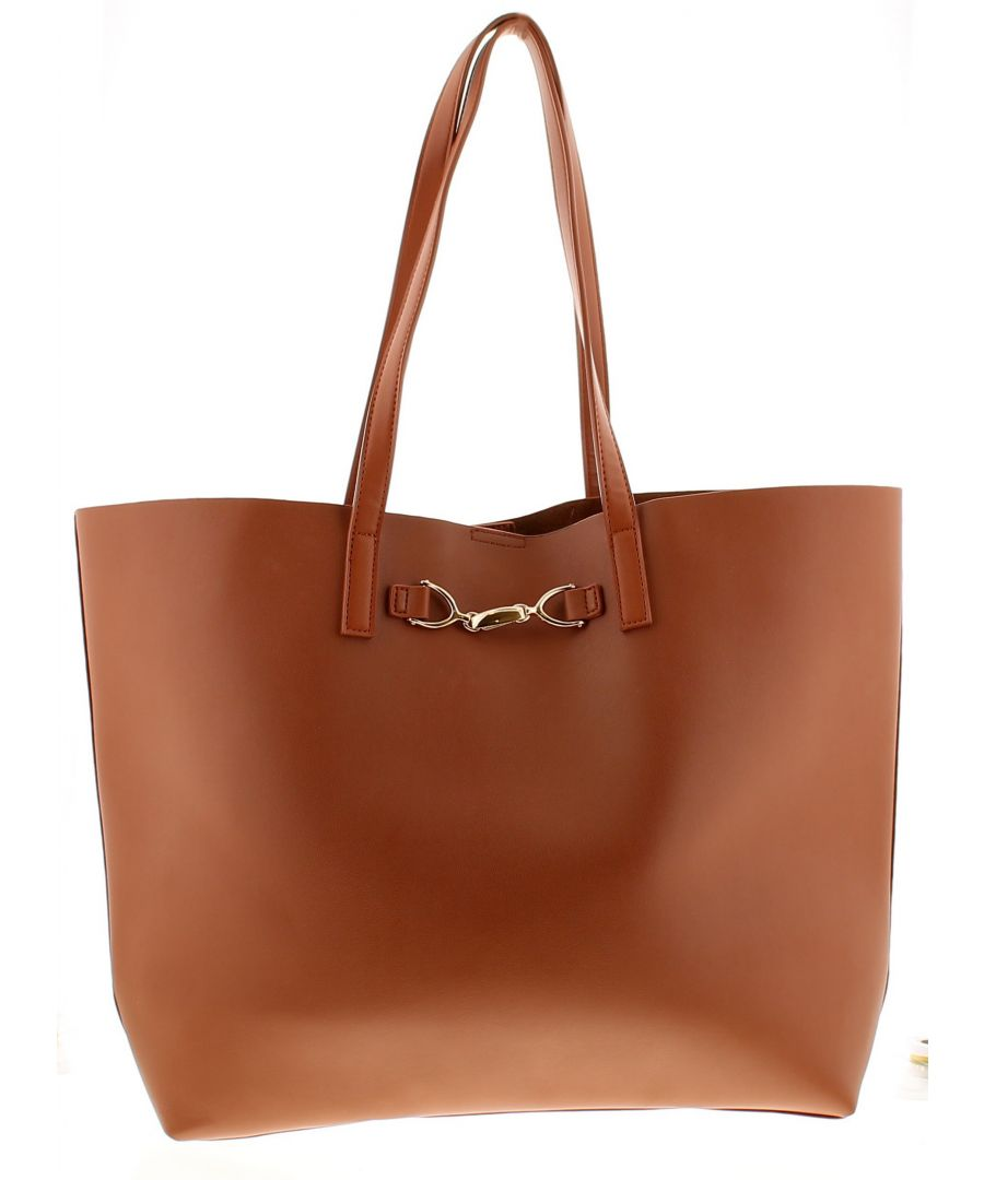 Image for Wynsors clasp tote womens bag tan