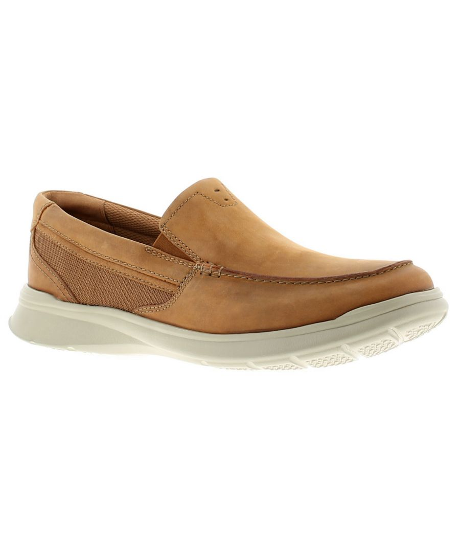 Image for Clarks cotrell leather mens casual shoes tan