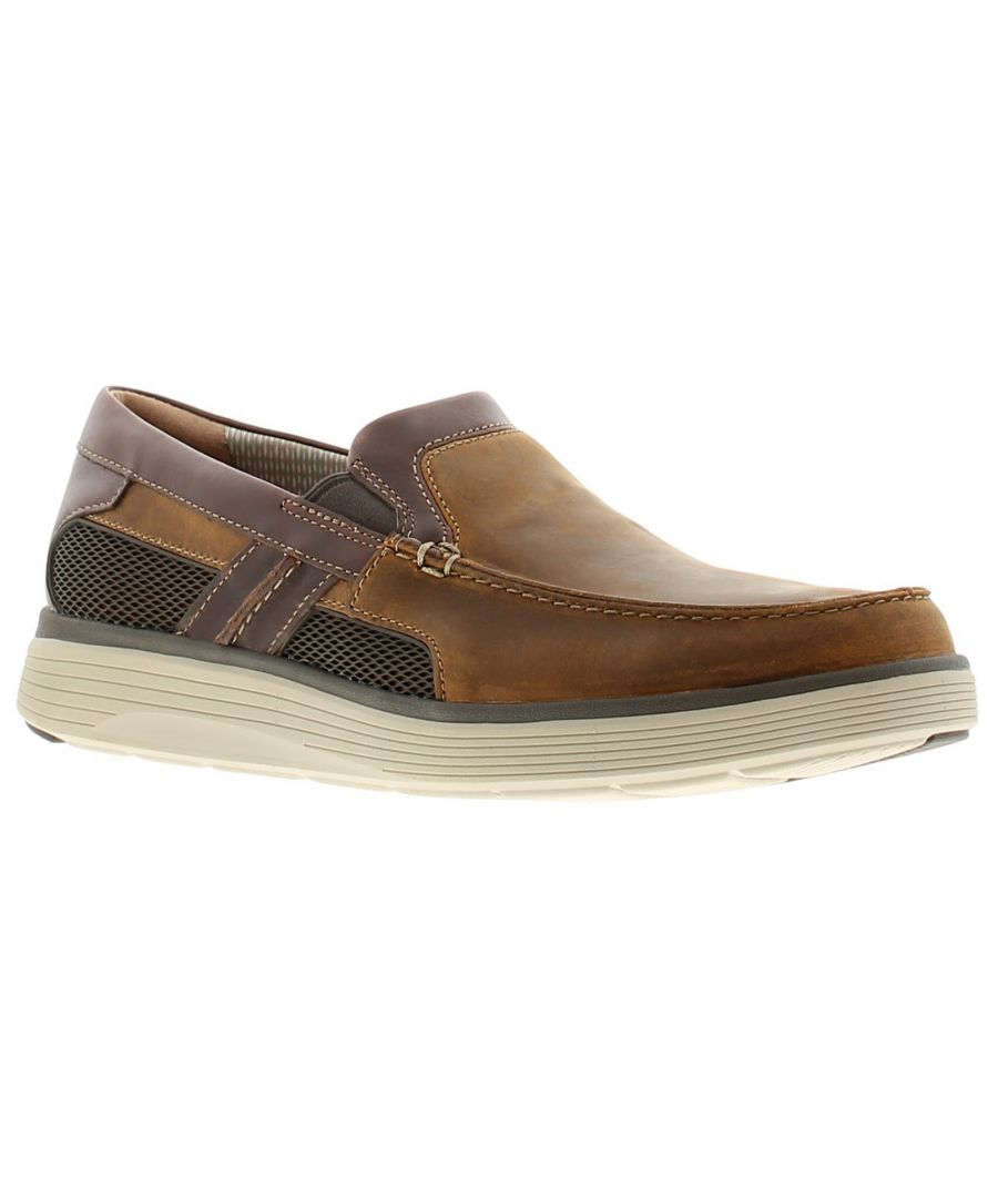 Image for Clarks un abode free leather mens casual shoes tan