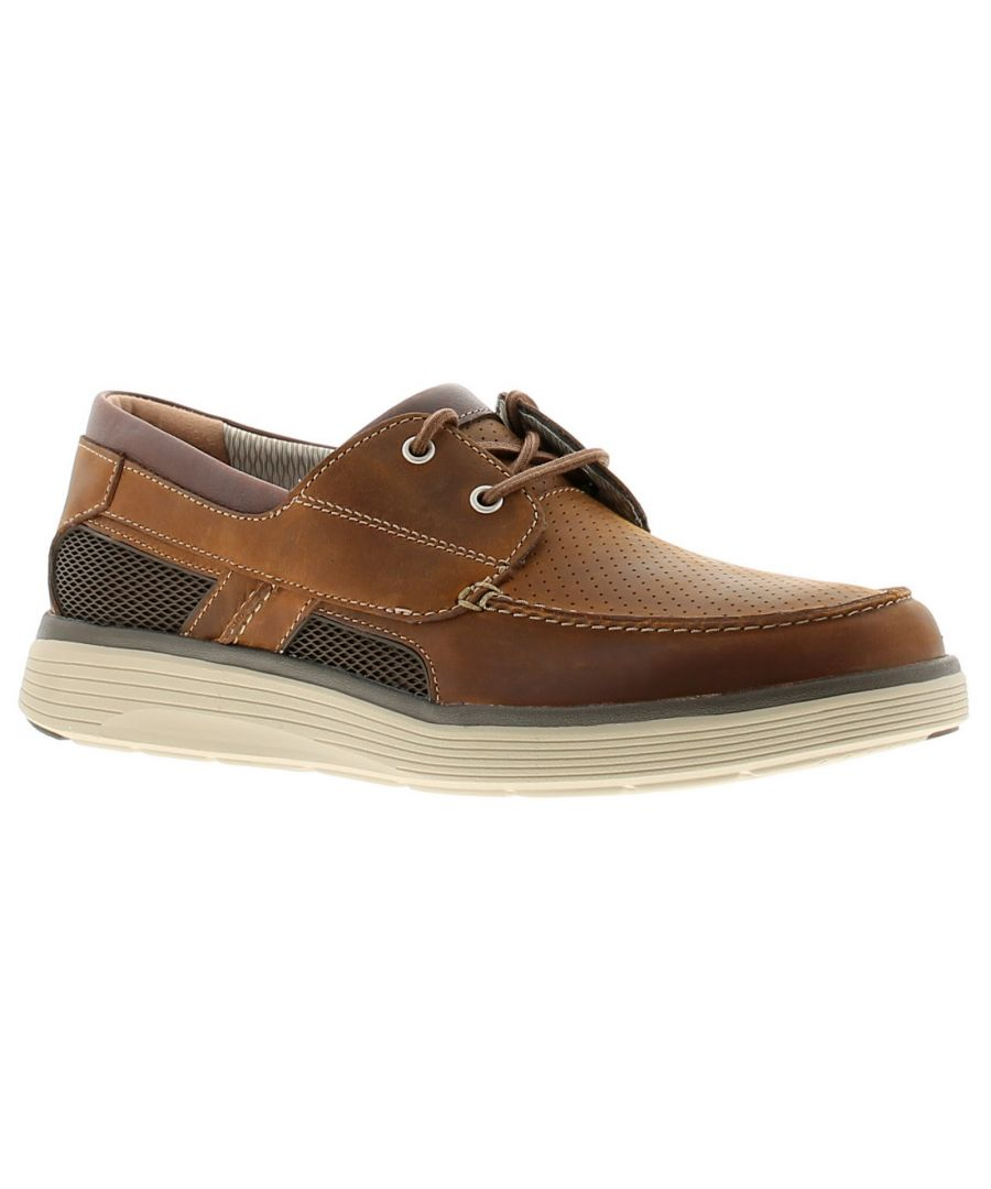 Image for Clarks un abode step leather mens casual shoes tan
