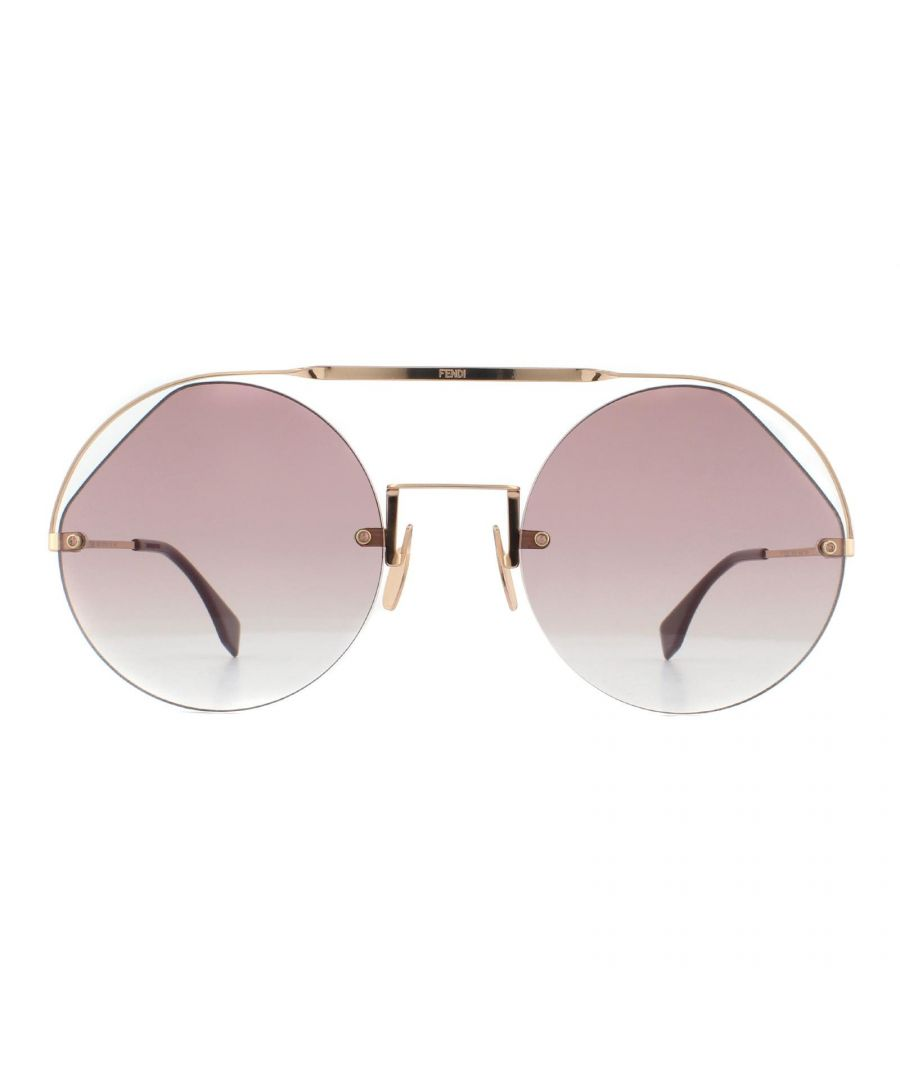 Image for Fendi Sunglasses FF 0325/S QHO 3X Gold and Burgundy Cyclamen