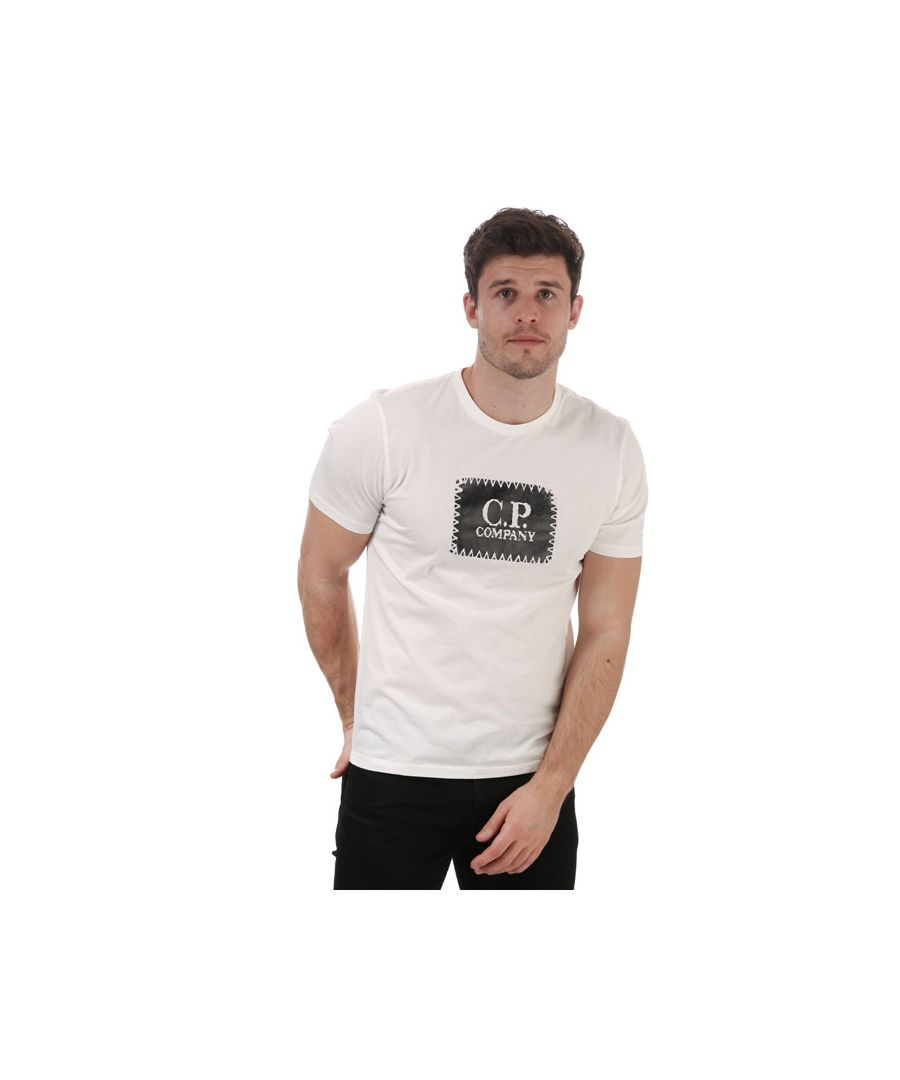 Image for Men's C.P. Company Stitch Block Logo T-Shirt in White