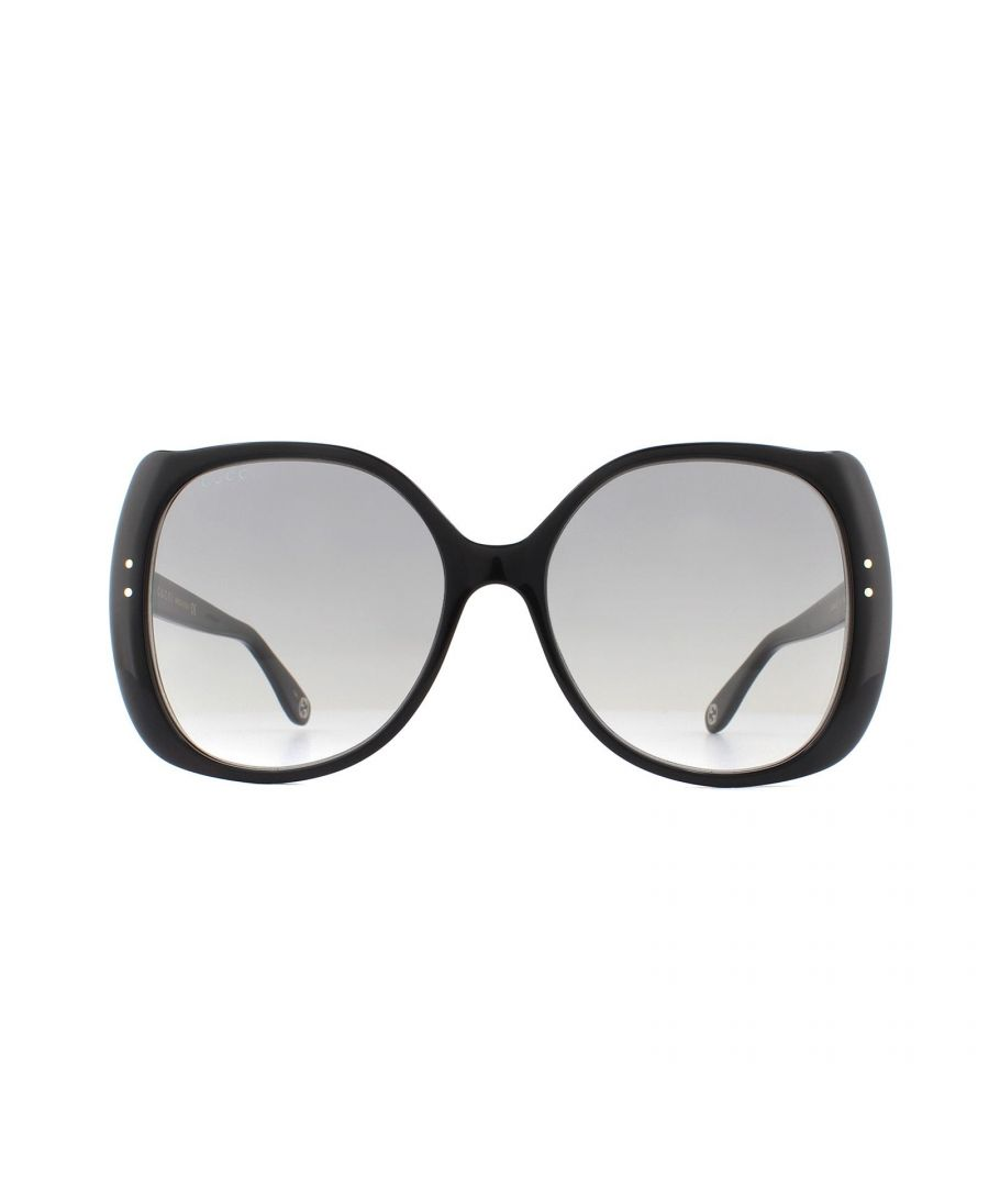 Image for Gucci Sunglasses GG0472S 001 Black Light Grey Gradient