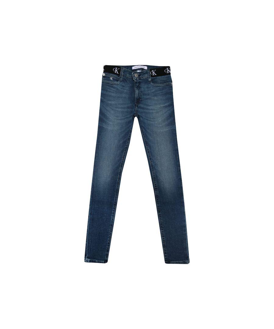 Image for Calvin Klein Girls' Infant Skinny Jeans in Denim