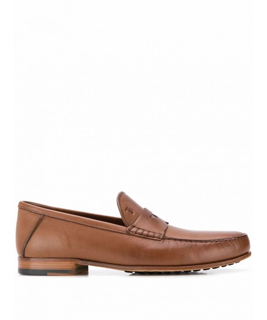 Image for TOD'S MEN'S XXM11A00010TUSS813 BEIGE LEATHER LOAFERS