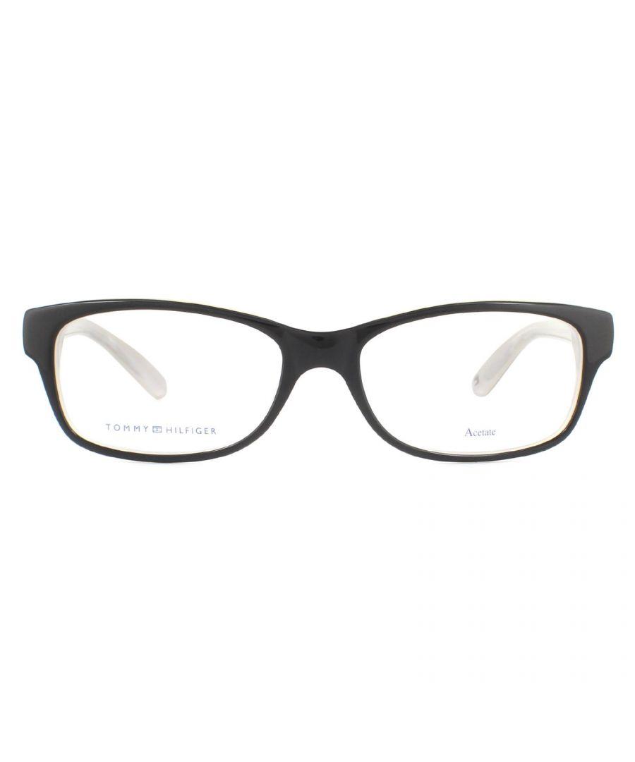 Image for Tommy Hilfiger Glasses Frames TH 1018 HDA Black Beige Women