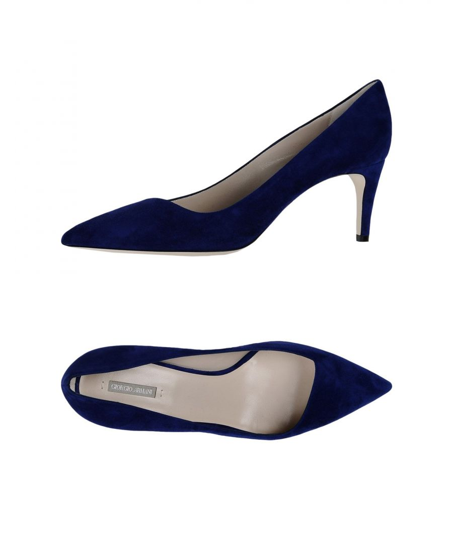 Image for Giorgio Armani Blue Leather Heels