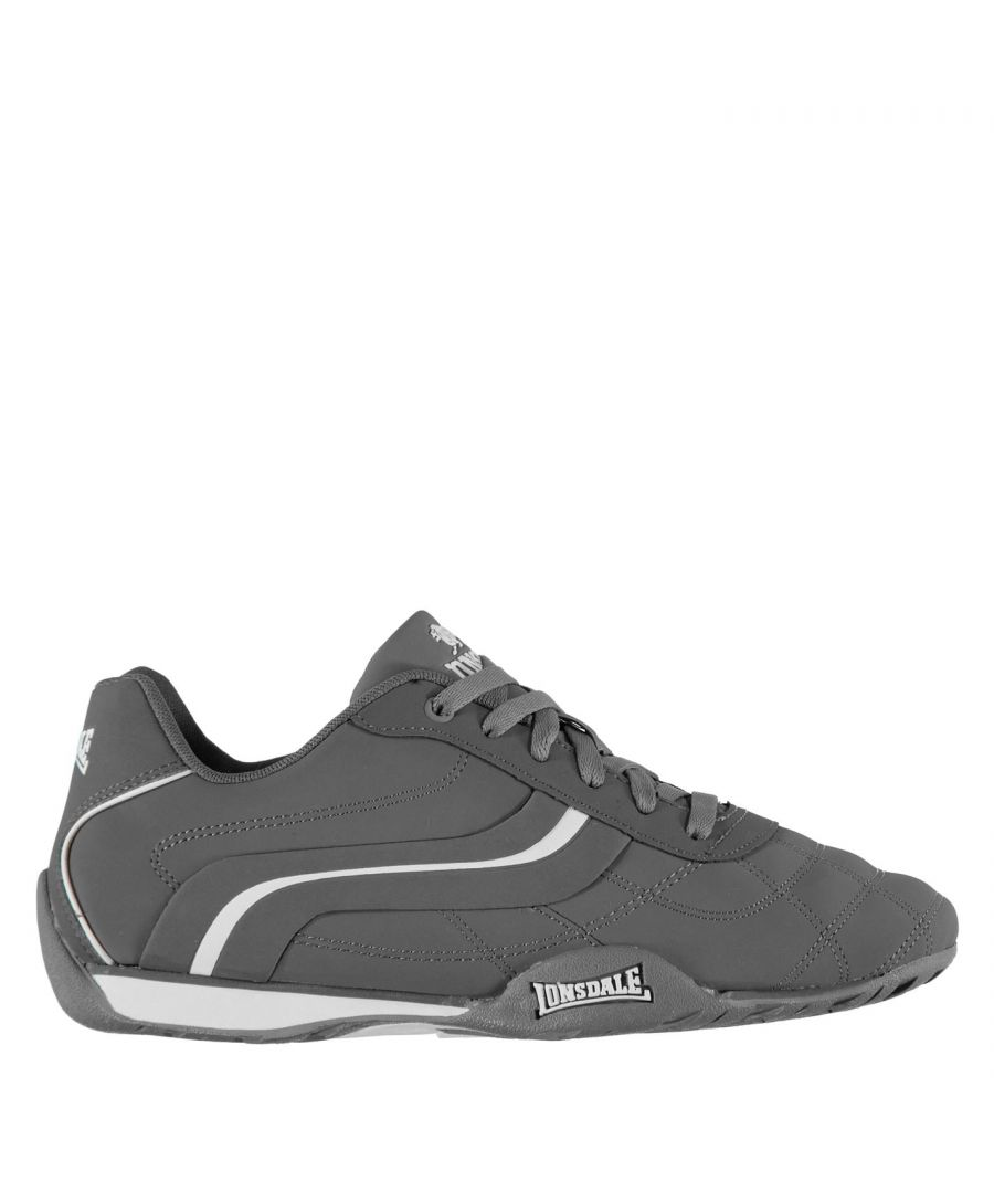 Image for Lonsdale Mens Camden Trainers Lace Up Casual Sports Shoes Footwear