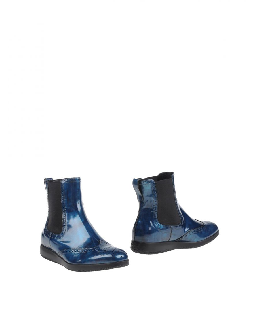 Image for Hogan Blue Leather Ankle Boots