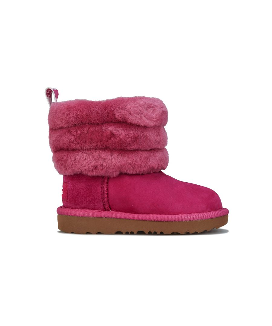 Image for Girl's Ugg Australia Junior Fluff Mini Quilted Boots in Pink