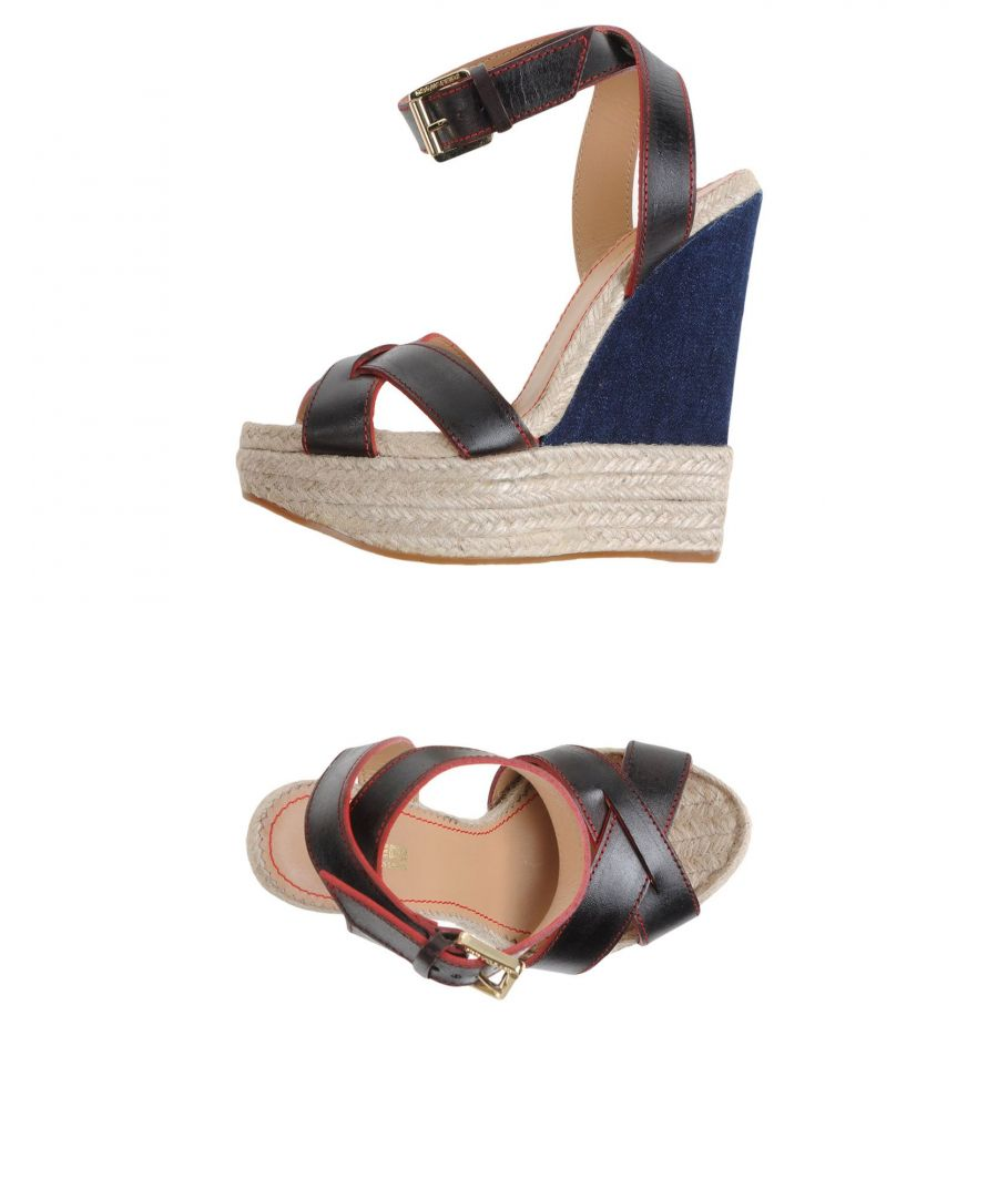 Image for Dsquared2 Dark Brown Leather Wedges
