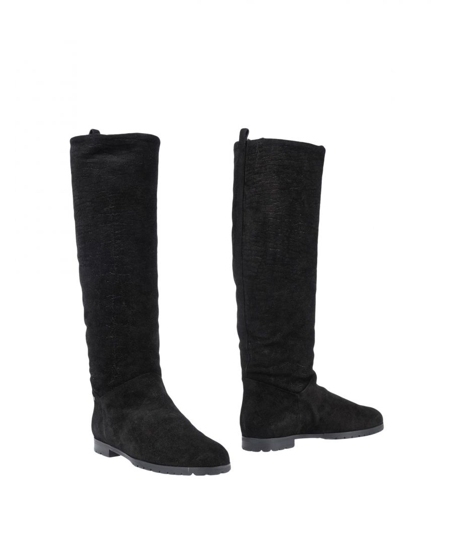 Image for A.Testoni Black Shearling Leather Boots