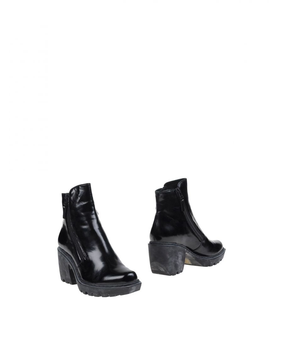 Image for Opening Ceremony Black Polished Leather Ankle Boots