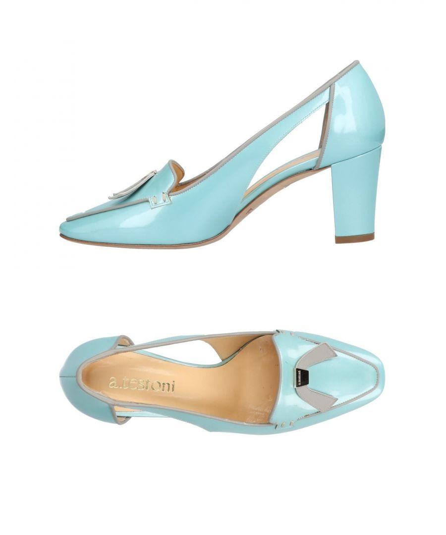 Image for A.Testoni Sky Blue Leather Heels