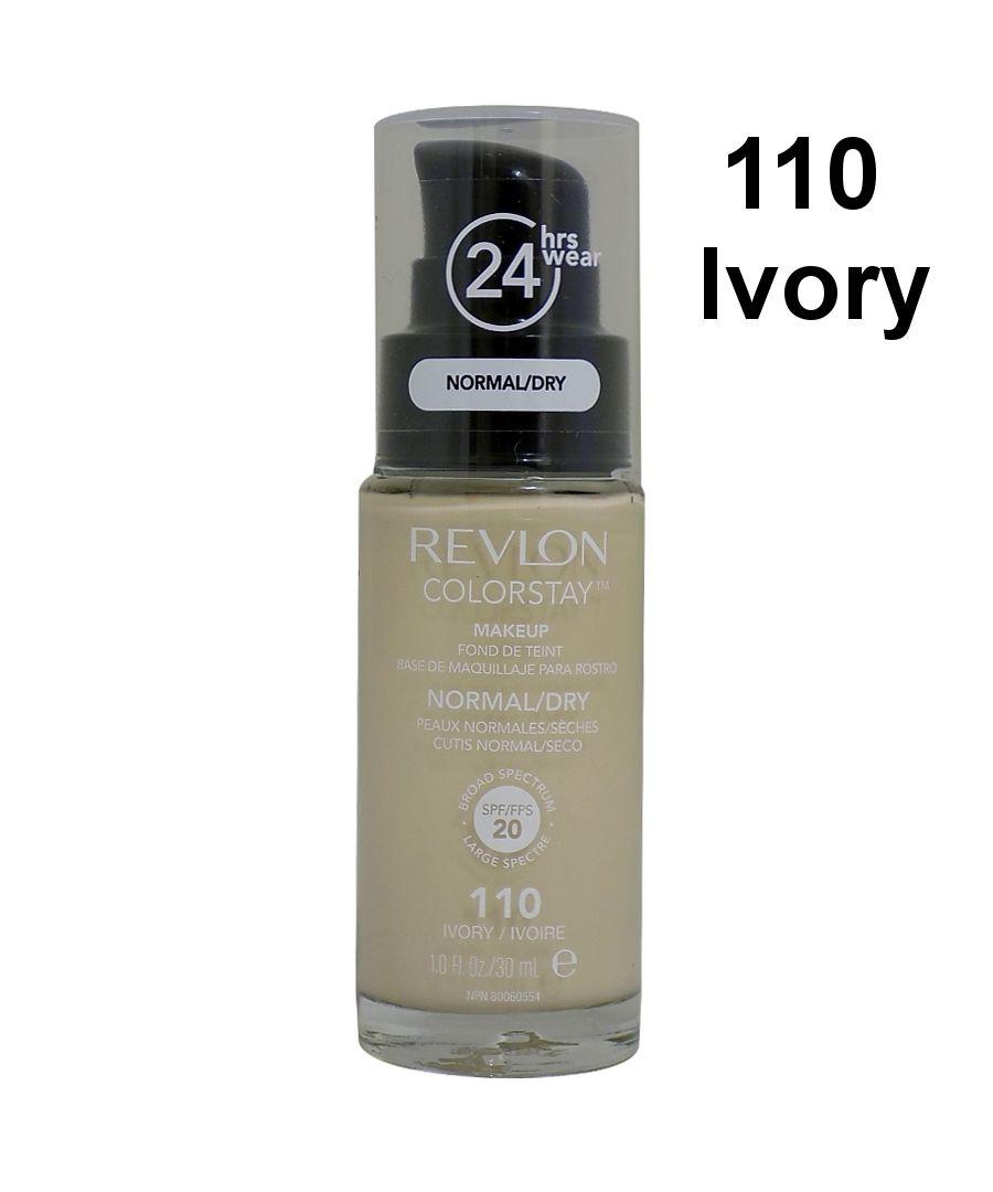 Image for Revlon Colorstay Pump 24HR Make Up SPF20 Norm/Dry Skin 30ml - 110 Ivory