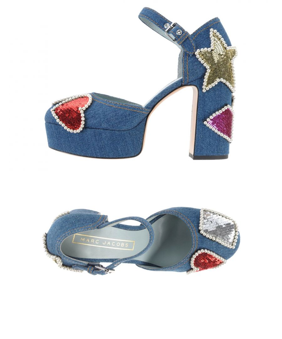Image for Marc Jacobs Blue Denim Sequinned Mary Jane Heels