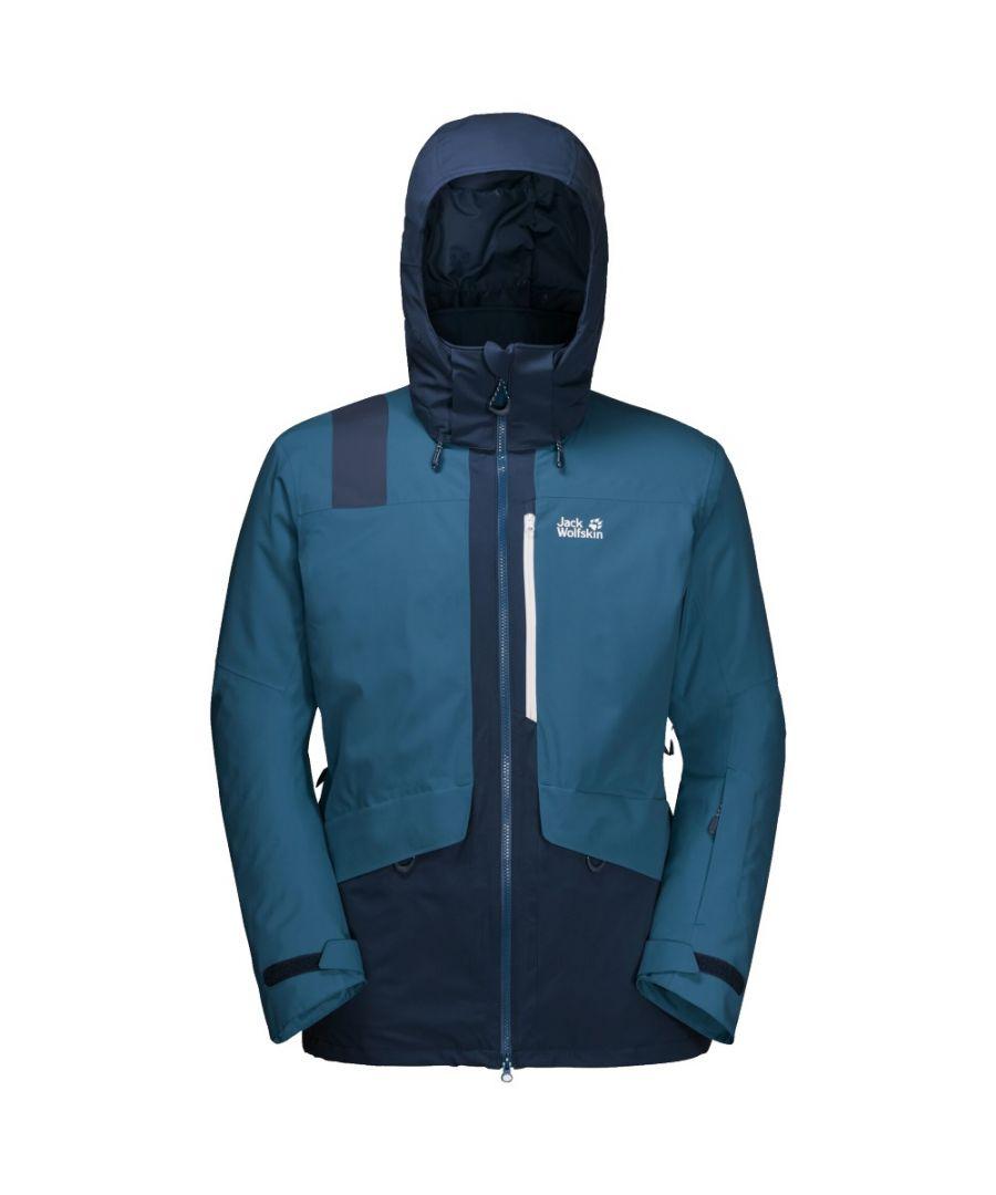 Image for Jack Wolfskin Big White Mens Waterproof Jacket Blue - M