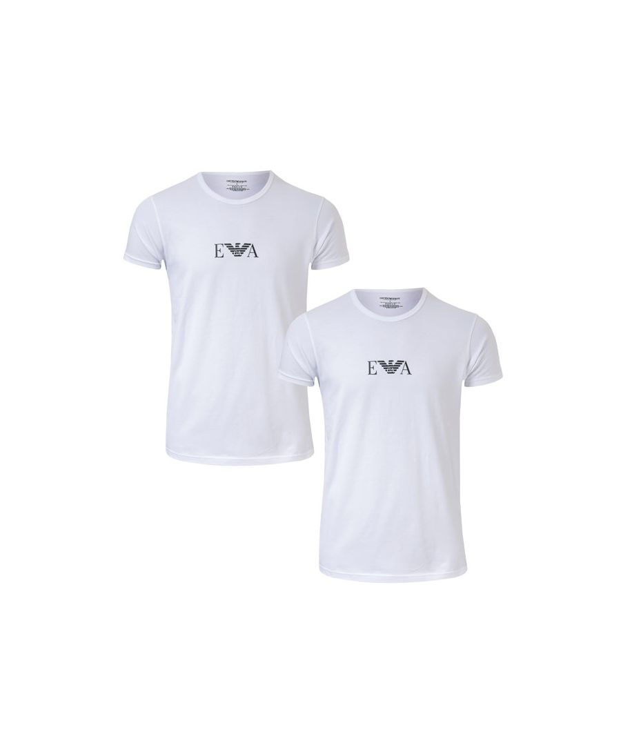 Image for Men's Armani 2 Pack T-Shirt in White