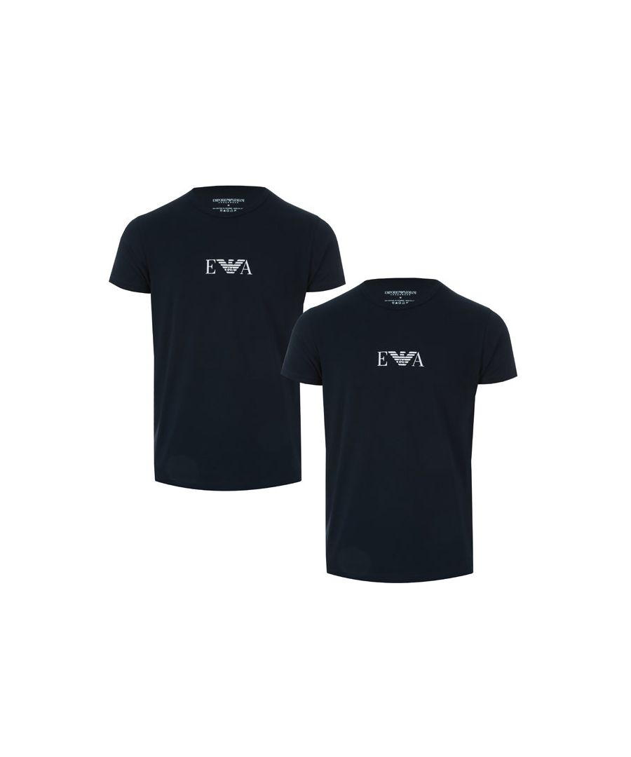 Image for Men's Armani 2 Pack T-Shirt in Navy