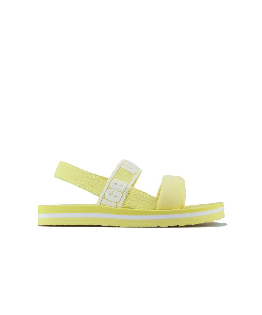 Image for Girl's Ugg Australia Junior Zuma Sling Slip On Sandals in Lemon
