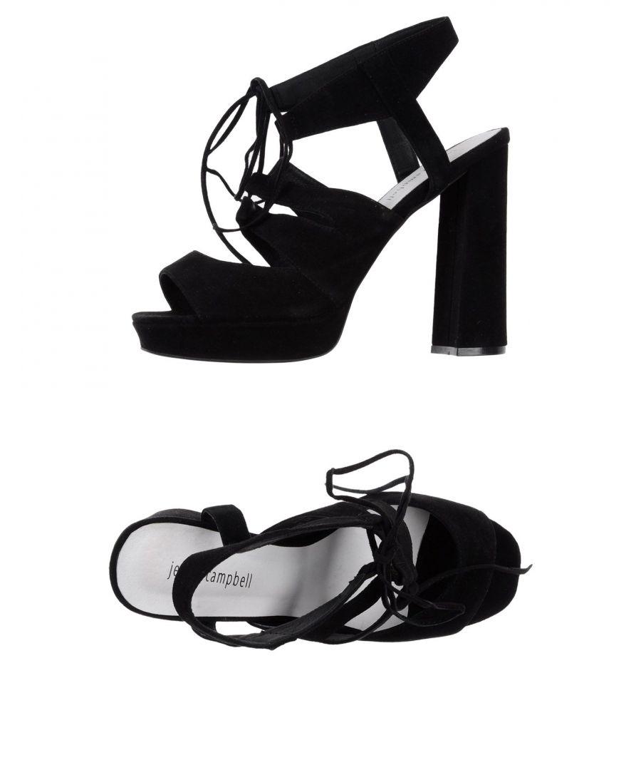 Image for Jeffrey Campbell Black Leather Sandals