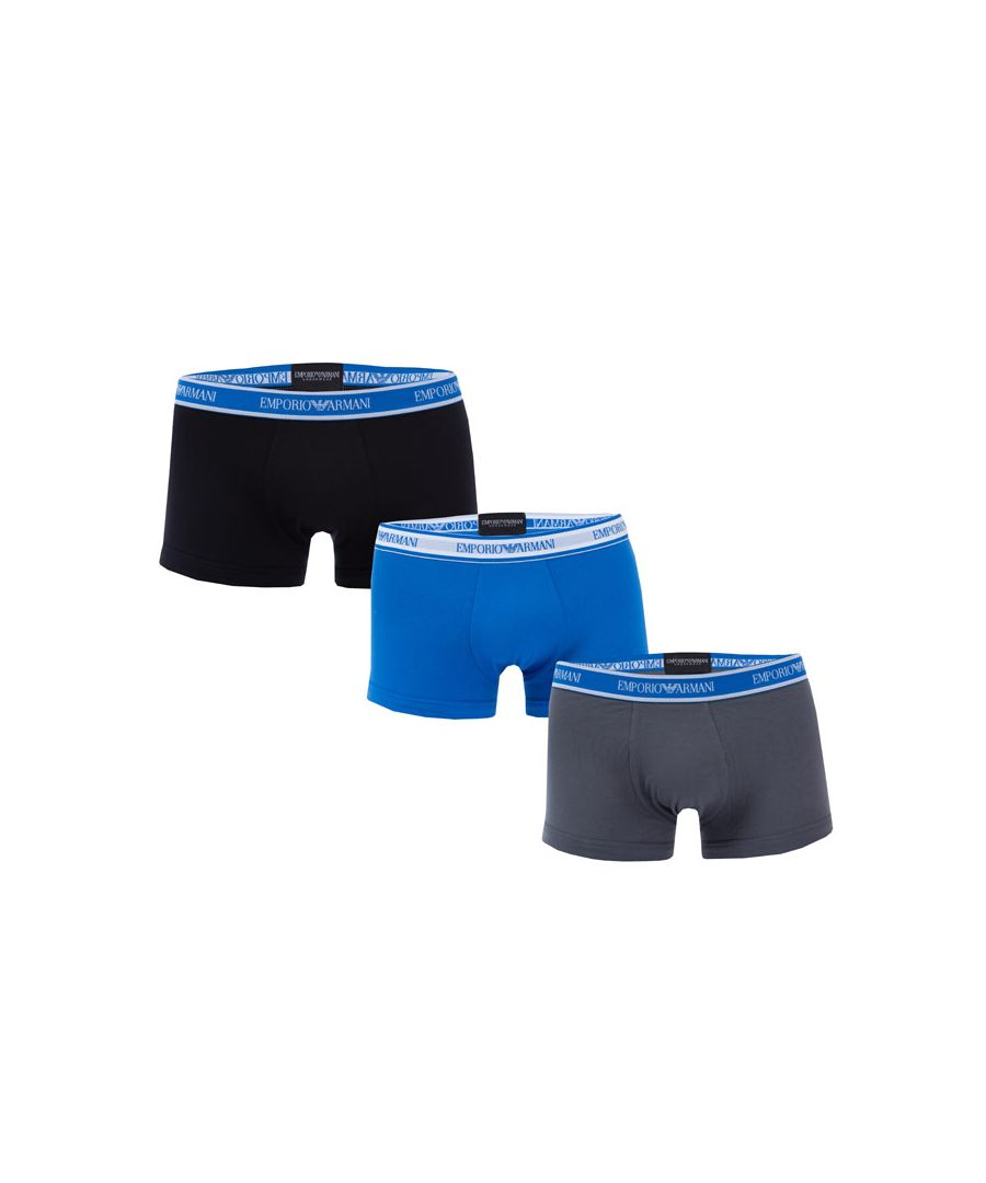 Image for Men's Armani 3 Pack Boxers in Navy Grey