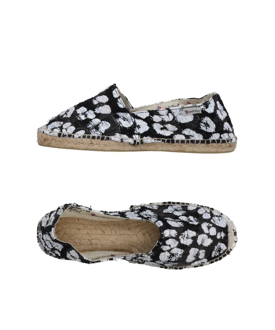Image for Espadrilles Black Print Flats