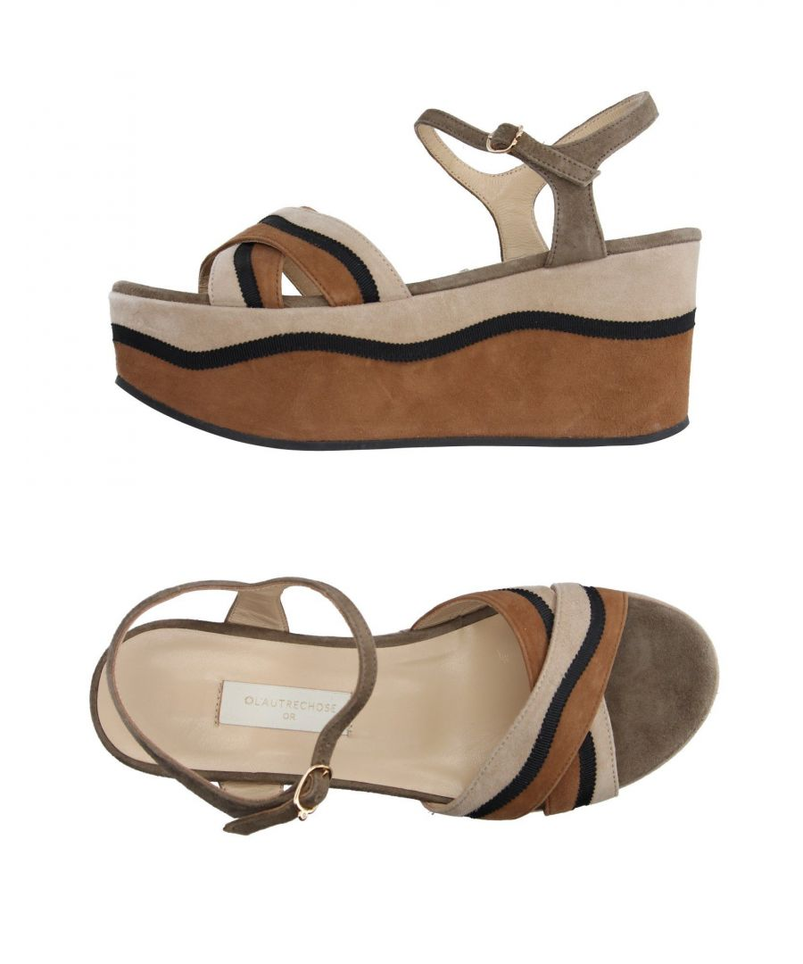 Image for L' Autre Chose Camel Leather Flatform Sandals