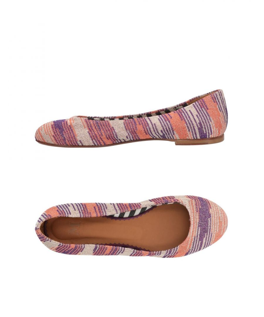 Image for M Missoni Salmon Pink Print Ballet Pumps