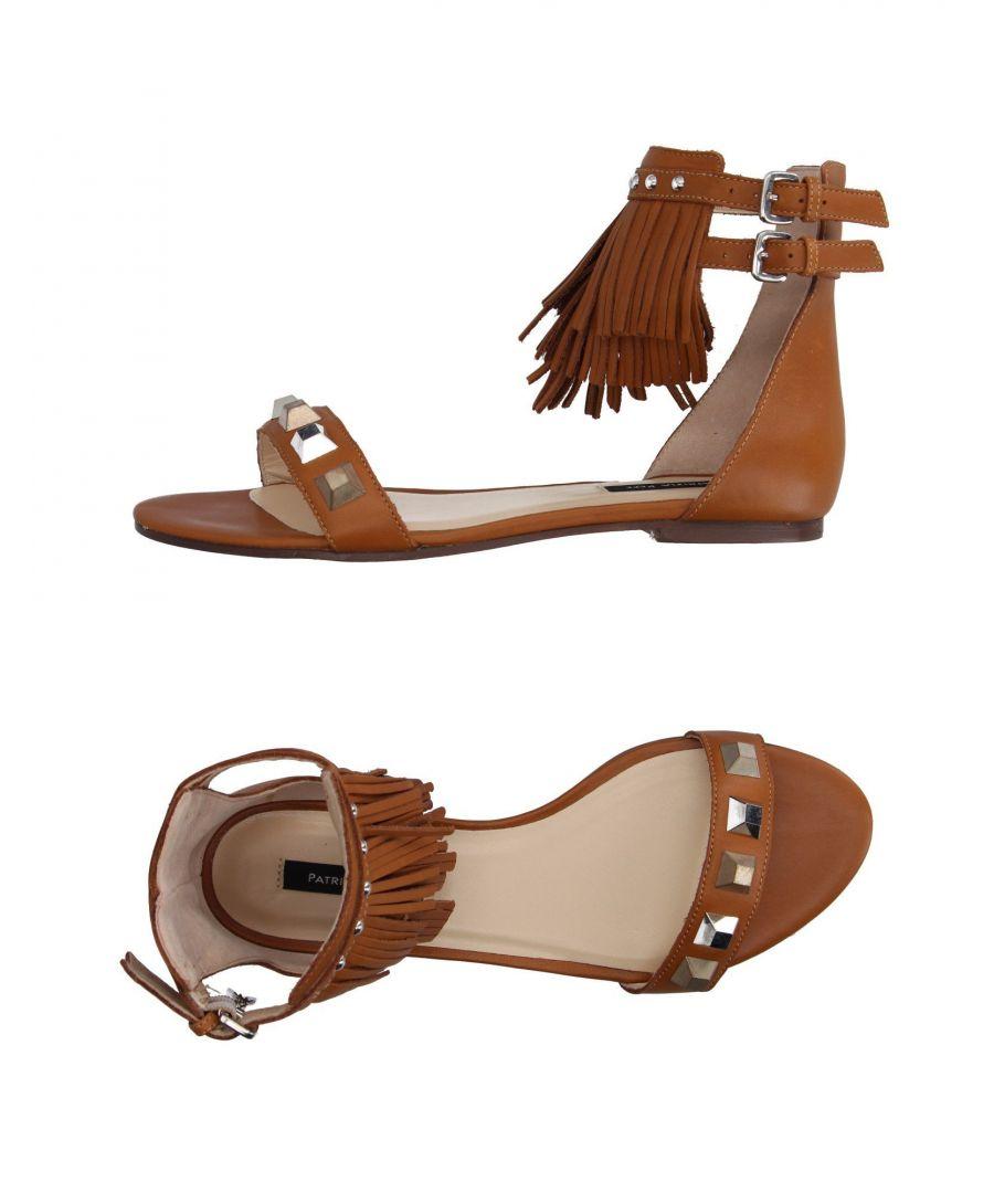Image for Patrizia Pepe Camel Leather Fringe Sandals